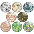 Paisley Design 1.25 inch Pinback Button Badge Set
