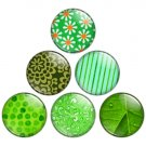 Green Color Themed 1.25 inch Pinback Button Badge Set 1