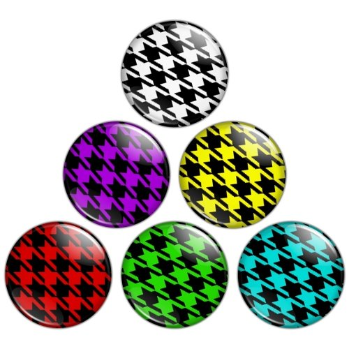 Houndstooth Pattern 1.25 inch Pinback Button Badge Set 1