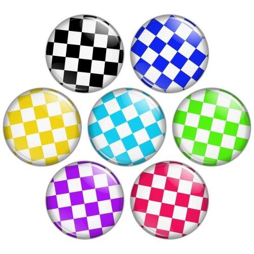 Check Pattern 1.25 inch Pinback Button Badge Set 2