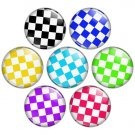 Check Pattern 1.25 inch Pinback Button Badge Set 2