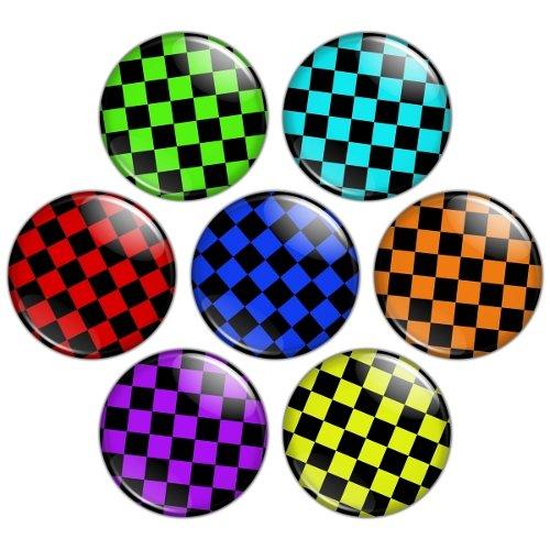 Check Pattern 1.25 inch Pinback Button Badge Set 3