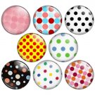 Polka Dot Pattern 1.25 inch Pinback Button Badge Set 1