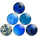 Blue Color Themed 1.25 inch Pinback Button Badge Set 1