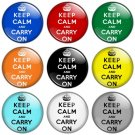Keep Calm & Carry On 1.25 inch Pinback Button Badge Set