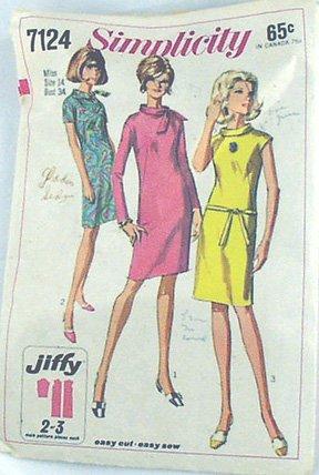 Mod Wiggle Dress, Cowl Collar 67 Sz14