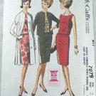 Dress Coat Pattern-McCalls 7079-Jackie Chic Sz 18
