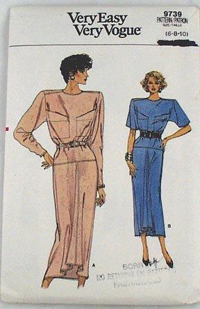 VOGUE 9739 Misses Dress Pattern SZ6-8-10