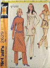 MOD Tunic & Flare Pant Pattern-McCalls2629 Sz18
