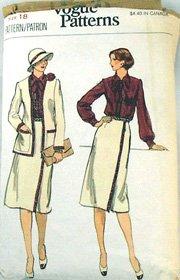 Vogue 9712-Misses Jacket,Skirt,Blouse  Vintage Pattern-Sz18