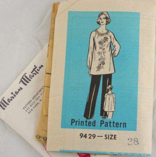 Marian Martin 9429 Mail Order VINTAGE PATTERN Tunic Pant Sz 38