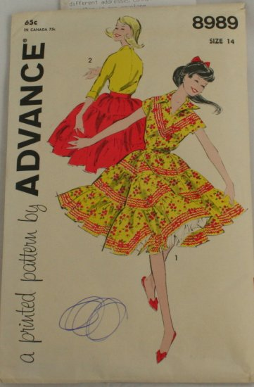 """2 Piece Dress"" Advance PATTERN Sz 14"