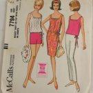 "Vintage ""Shift or Top/Pant"" Pattern McCalls 7794 PATTERN Sz 16"