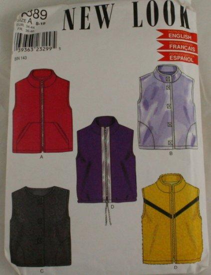 80-90s-Vest Jacket-New Look- VINTAGE PATTERN SZ 8-18