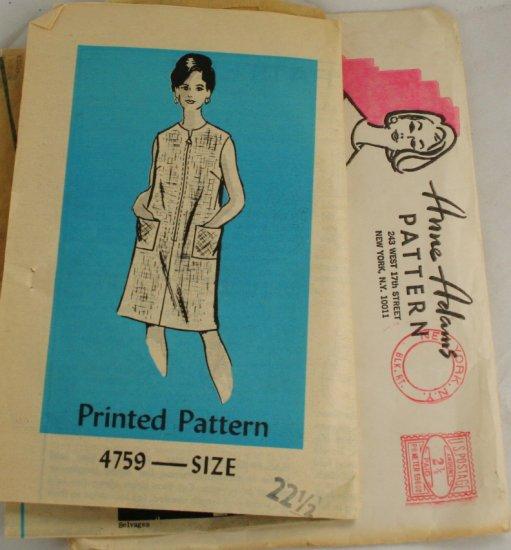 Plus Size Dress Mail Order Anne Adams 4759 SZ 22-1/2