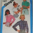 Girls Set of Blouses-Simplicity 6555 Sz 7,8