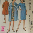 Dress,Coat-McCall's 7146-VINTAGE PATTERN Sz 14