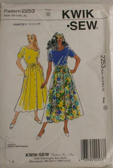 1993 Top & Skirt-KwikSew-VINTAGE PATTERN XS-XL