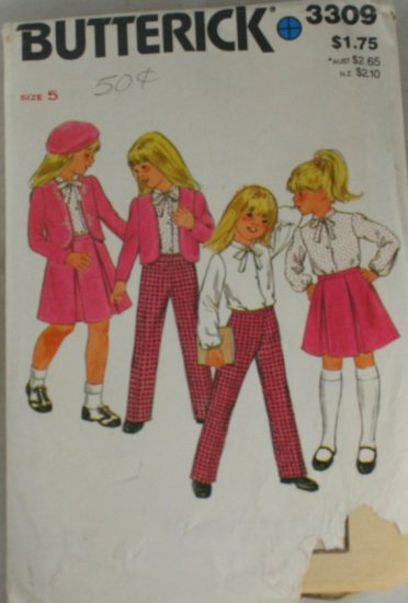 Childs Outfit-Butterick 3309 Sz 5