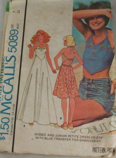 Junior Petite Dress -McCalls 5089-Sz 9