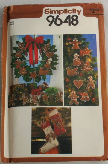 1980-Wreath,Ornaments-Simplicity 6067-VINTAGE PATTERN