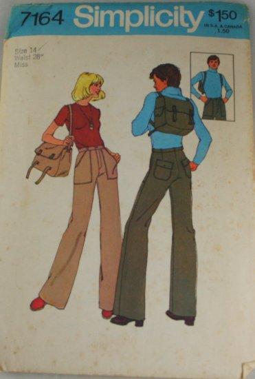 Misses Pant,Bag-Simplicity 7164-VINTAGE PATTERN Sz 14