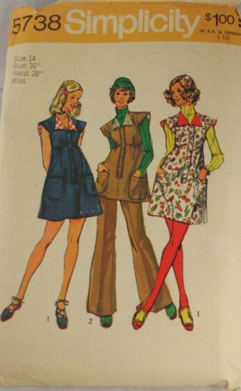 Jumper Set,Dress-Simplicity 5738  PATTERN Sz 14