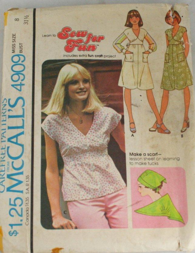 Dress or Top-McCall's 4909 Sz 8