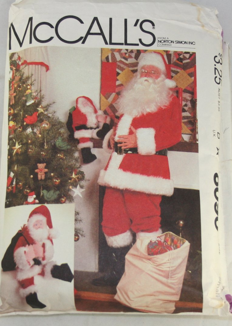 1982 Santa Claus Costume,Doll VINTAGE PATTERN Sz Small