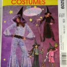 Girls Witch Costumes McCall's M5209 SZ CS 12,14,16
