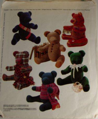 It's a Small World Teddy Bear Joanne Beretta McCall's 861-VINTAGE PATTERN SZ One