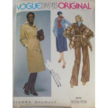 Vogue Paris Original 1570 Pierre Balmain Misses Outfit  Sz 10