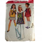 Simplicity 8673 Pattern Girls MiniDress or Top,Skirt, Bell Bottoms SZ 7