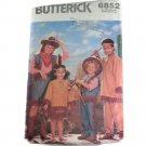 Butterick 6852 Children  Cowboy Indian Costumes  SZ XS,S,M,L