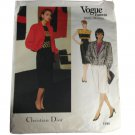 Vogue Paris Original 1195 Christian Dior Misses Jacket,Skirt,Top Sz 10