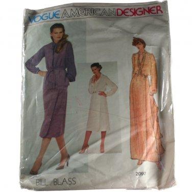 Vogue American Designer 2097 Bill Blass VINTAGE PATTERN Size 12