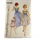Simplicity 3948 Misses Nightgown in 3 Lengths,Panties SZ 14