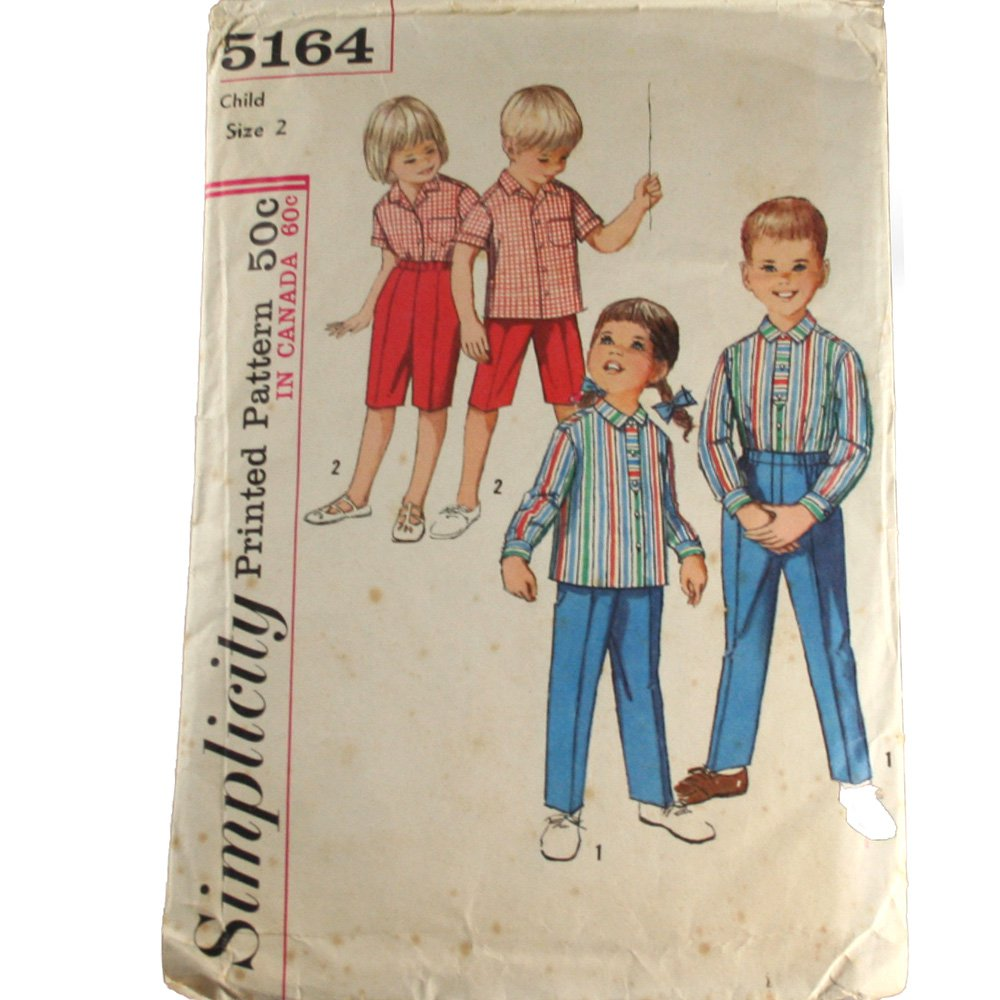 Child Shirt and Pants Sewing Pattern Simplicity 5164  Size 2