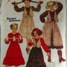 Betsey Johnson Girls Blouse,Vest,Petticoat Butterick 6180  SZ  7