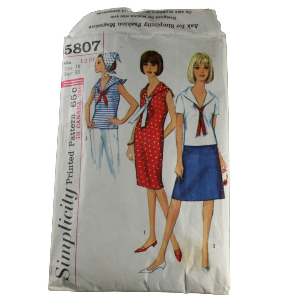 Misses  Dress or Blouse and Skirt-Simplicity 5807- SZ 18