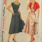 Misses Dress & Bolero Simplicity 4651 1950s Size 14