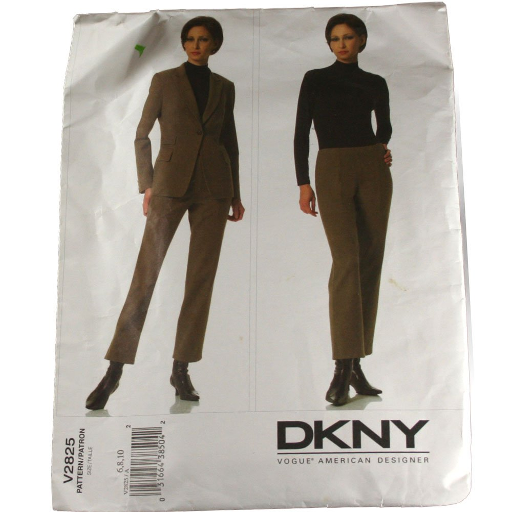 Vogue American Designer V2825 DKNY Misses Jacket and Pants SZ  6,8,10