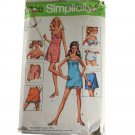 Simplicity  8750 Misses Mini-Slips, Bra and Panties Size 12