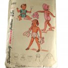 Vintage Simplicity 2892 Sewing Pattern Childs Playsuit,Shorts,Bolero and Bonnet Size 1