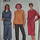 MISSES DRESS, TOP, SKIRT & PANTS SIZE 8-10-12 EASY BUTTERICK PATTERN 3250