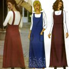 Misses A Line Jumper Sewing Pattern Lined Bib Straps Butterick 3193 Size 20-22-24 Easy