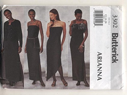 Butterick 3302 Arianna Formal Evening Wear Sewing Pattern Size 18,20,22