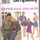 Simplicity 8150 Shorts Shirts and Tie  Size XS-MD