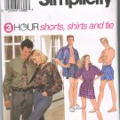 Simplicity 8150 Shorts Shirts and Tie  Size LG-XL