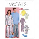 McCall's Patterns M5992 Misses'/Men's/Teen Tops, Nightshirt, Pants &Dog Sweatsuit Size Z (LRG-XLG)